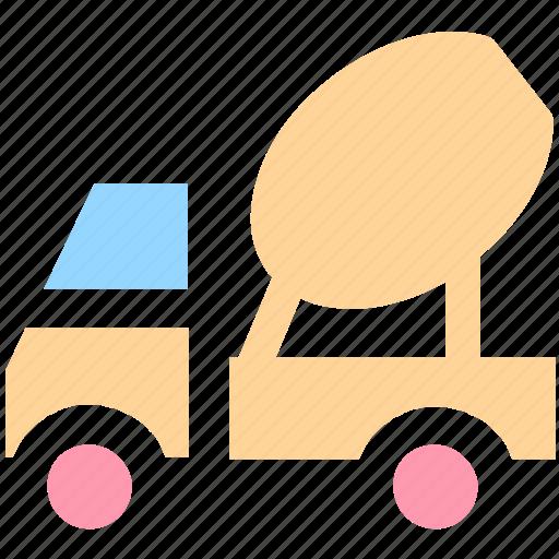 cement truck, cement vehicle, concrete, concrete carrier, concrete truck, construction, construction vehicle, vehicle icon