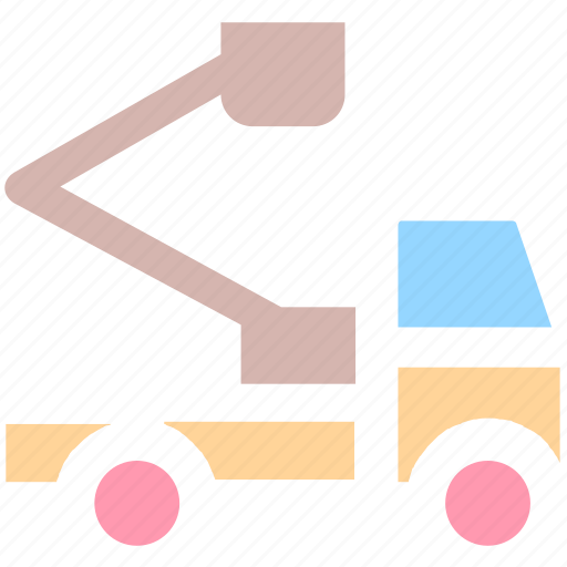 crane, holiday, road, travel, truck, vacation, vehicle icon