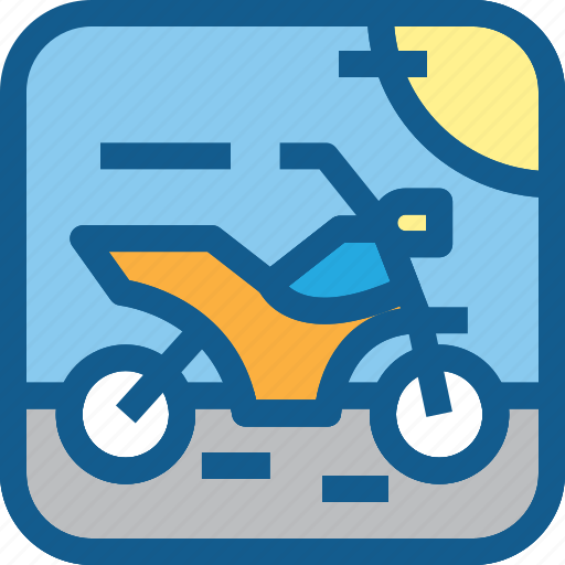Motor, motorcycle, road, trail, transportation, vehicle icon - Download on Iconfinder