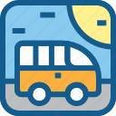 bus, car, school bus, transportation, travel, vacation, van