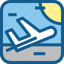 airport, departure, flying, plane, rocket, transportation, vehicle
