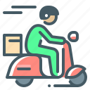 transport, motorbike, motorcycle, scooter, delivery, courier