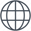 earth, globe, logistics, transport, transportation icon