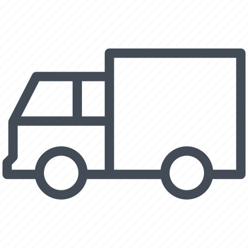 car, courier, delivery car, logistics, transport, transportation icon