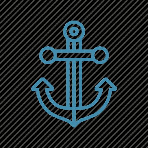 anchor, marine, nautical, naval, ship icon