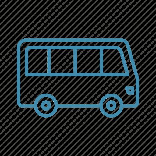 bus, car, public, transport, vehicle icon