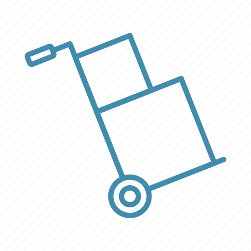 box, cargo, cart, delivery, parcel, shipping, trolley icon