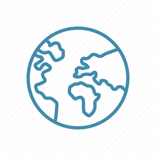 global, globe, map, online, planet, world icon