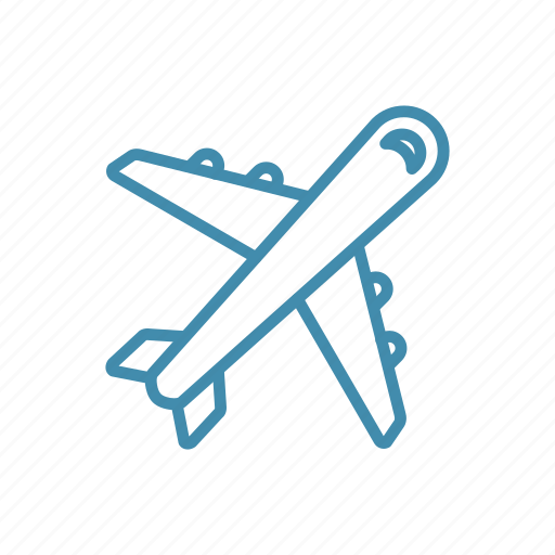 airplane, delivery, flight, plane, transport, travel icon