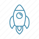 rocket, space, spaceship, start, travel icon