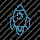 rocket, space, spaceship, start, travel