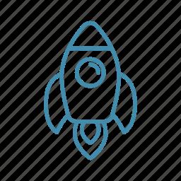 rocket, space, spaceship, start, travel icon