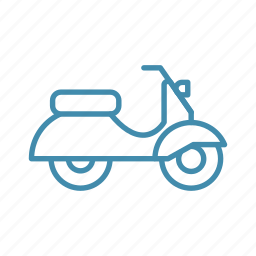 bike, courier, delivery, scooter, transport icon