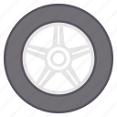 car, tyre, tyres, vehicle, wheel icon