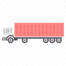 heavy, lorry, road, transport, transportation, truck, vehicle icon