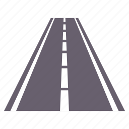 lines, road, transport, transportation, travel icon