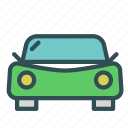 car, front, vehicle, view icon