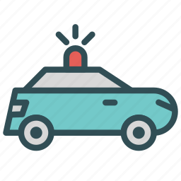 car, police, service, vehicle icon