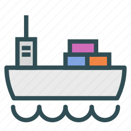 boat, cargo, dock, ship icon