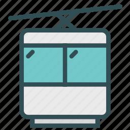 gondola, mountain, ski, transport, travel icon