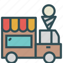 car, cream, ice, truck, vehicle icon