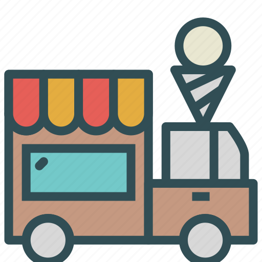 car, cream, ice, truck, vehicle icon