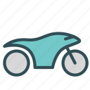 motorcicle, speeder, vehicle icon