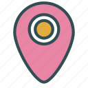 large, location, mark, pin icon