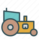 farm, labor, tractor, truck, vehicle icon