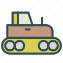 labor, tractor, truck, work icon