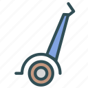 motorized, scooter, two, wheel icon