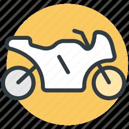 heavy bike, motor bike, motorcycle, speed motorbike, sports bike icon