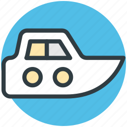 boat, fast, small boat, speedboat, travel icon