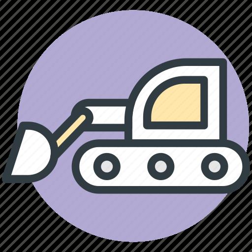 concrete bulldozer, construction, crane, lifter, lifting machine icon