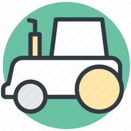 agriculture, farm tractor, tractor, transport, transportation icon