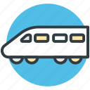 electric train, fast train, metro train, railway transportation, voyage icon