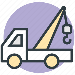 lifter, luggage lifter, tow truck, transport, vehicle icon