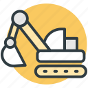 construction, crane, digger, excavator, power shovel icon