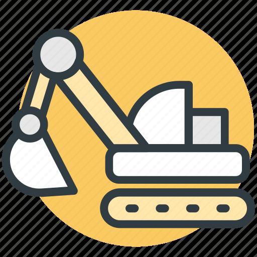 construction, crane, digger, excavator, power shovel icon