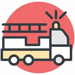 emergency, firetruck, ladder truck, rescue truck, truck icon