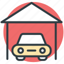 automotive, car, porch, transport, vehicle icon