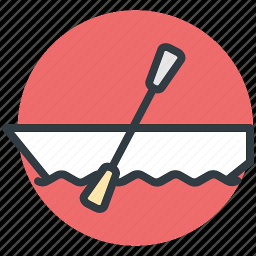 boat, oar, sailing vessel, transport, travel icon