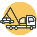 car carrier truck, car shipper, car shipping, merchandise, shipment icon