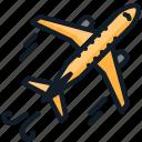 airplane, flight, tourism, transport, travel icon