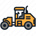 construction, heavy, tractor, vehicle icon