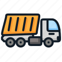 delivery, load, transport, truck icon