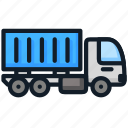 container, delivery, load, transport, truck icon