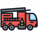 engine, fire, firefighting, transport, truck icon