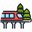 monorail, train, transport, travel, vehicle icon
