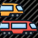 raiway, subway, train, tranis, transport, travel icon